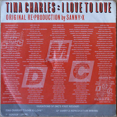 Tina Charles - I Love To Love (Reproduktion by Sanny X) - DE 1987 - VG++
