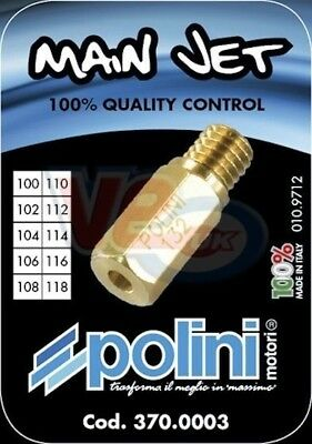10 Pack Keihin Polini Cp Carb Main Jets - Sizes 100 To 118