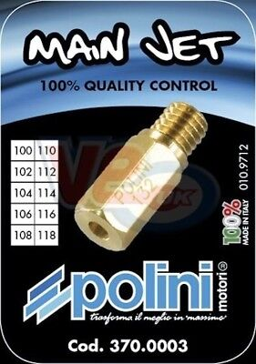 10 Pack Keihin Polini Cp Carb Main Jets - Sizes 140 To 158