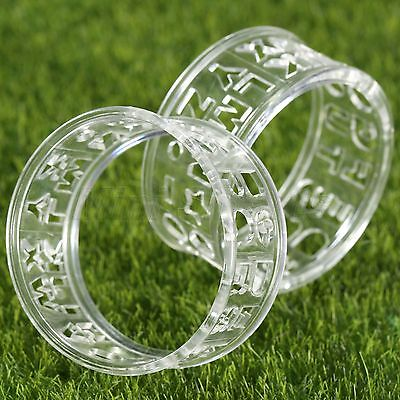 Transparent Plastic Golf Ball Liner Marker Drawing Sign Alignment Template Tool