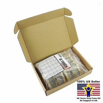 100value 1000pcs 1/2W Carbon Film Resistor Assortment Kit US Seller KITB0126