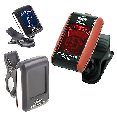 LCD Digital Guitar Tuner Clip-on Electronic Tune Chromatic Bass Violin T1