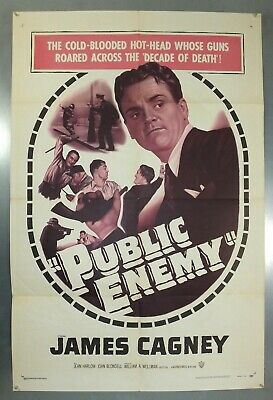 Public Enemy - James Cagney - Original American One Sheet Movie Poster