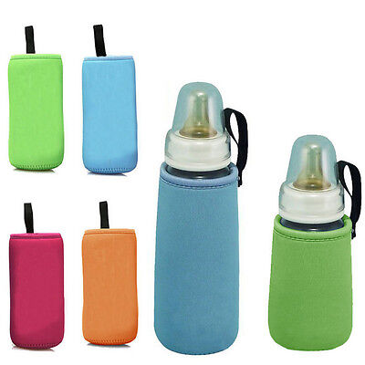 Thermal Baby Feeding Insulate Bottle Bag Milk Cup Warmer Cover Kid Cushion