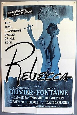 Rebecca - Alfred Hitchcock - Original American One Sheet Movie Poster