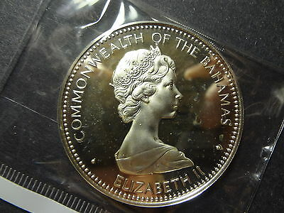 "Bahama Islands 1973 Silver 10 Dollars "" Independence 10 July 1973 """
