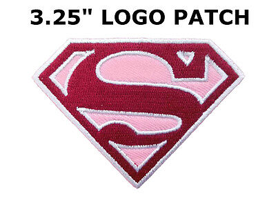 SUPERMAN SUPERGIRL LOGO DC Comic Patch Iron Embroidered Applique Sew Badge