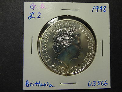 "Great Britain 1998 Silver 2 Pounds "" Standing Britannia """