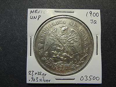 Mexico 1900  Silver Un Peso, Scarce Type, Choice Au !