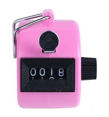 Pink Multipurpose One-Hand Counter 4 Digits Tally Counter