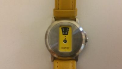 ESPRIT Yellow Jump Watch - Hipster Retro Vintage - FULLY SERVICED.