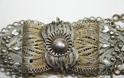 Ethnic Belt. Silver Filigree. Possibly Ottoman. Xix Century