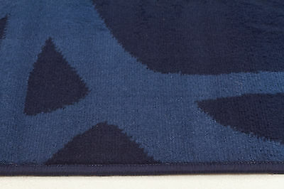 NEW Abstract Modern Rug Blue