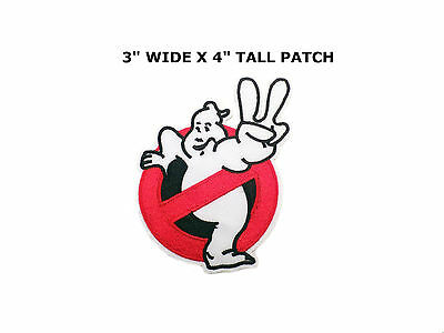 """Ghostbusters No Ghosts Logo Screen Accurate 4"""" Embroid Patch-FREE S&H US BUYER"""