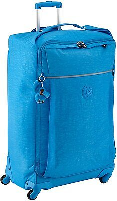 Kipling Darcey 4 Wheeled Trolley Suitcase Spinner Large 89L Sky Blue  RRP£138