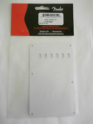 fender stratocaster vintage tremolo cover/backplate 1 ply white 099-1320-000