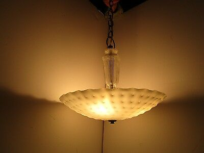 Harmony House frosted glass art deco light fixture ceiling chandelier dimpled