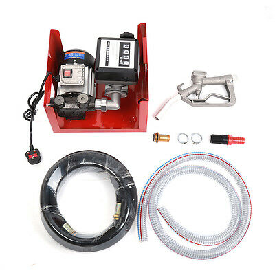 Portable 550W Electric Fuel Self-Priming Transfer Pump Diesel Extractor 60L/Min