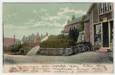 POST OFFICE, CRAWFORD: Lanarkshire postcard (C8743)