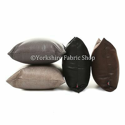 British Handmade Faux Leather Suede Animal Python Pattern Effect Filled Cushions