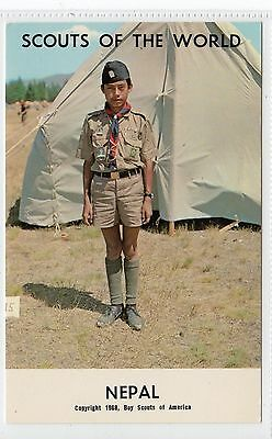 SCOUTS OF THE WORLD - NEPAL: Boy Scout postcard (C9535)