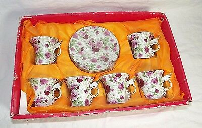 Imperial Italian Design by Antonio Espresso Cups and Saucers 12-Piece Set Rose