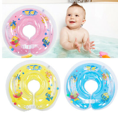 Baby Swimming Neck Float Infant Bath Ring Adjustable Safety Aids 0-18 Months UK