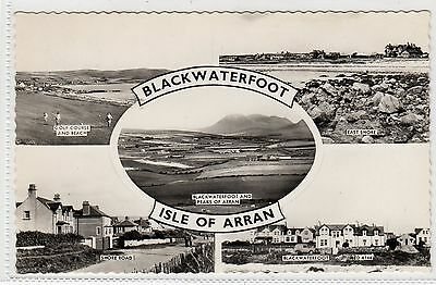 BLACKWATERFOOT: Isle of Arran multiview postcard (C9186)