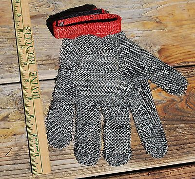 Chain Mail Stainless Steel Glove, Left Hand, Used