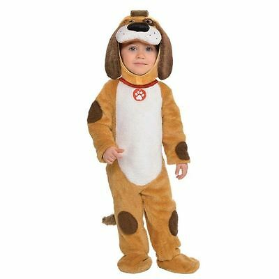 Toddlers Baby Playful Pup Dog Puppy Fancy Dress Costume Outfit Animal Zoo 3 Size