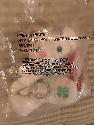 NIP  Precious Moments Winter Queen Bear Tender Tails Plush Christmas Tale 2001