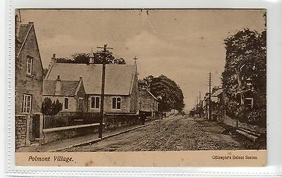 POLMONT VILLAGE: Stirlingshire postcard (C10707)
