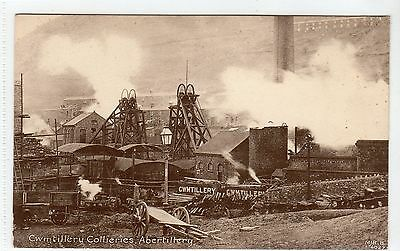 CWMTILLERY COLLERIES, ABERTILLERY: Monmouthshire postcard (C10819)