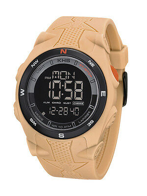 KHS Tactical Watches Alarm Chronograph Digital Compass Light Silicon KHS.SEDCT.S