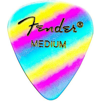 Fender 351 Shape Premium Celluloid Electric Guitar Picks 12-Pack Rainbow Medium