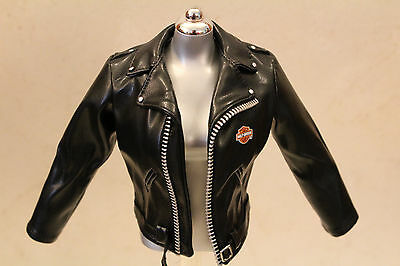 Harley Davidson doll biker motorcycle jacket Faux Leather fits 15-16in dolls OOP