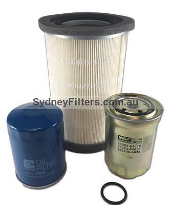 FILTER KIT - FORD COURIER 2.5L TURBO DIESEL [with ROUND air filter] AIR OIL FUEL