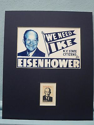 President Dwight D. Eisenhower Political Campaign Poster honored by his stamp