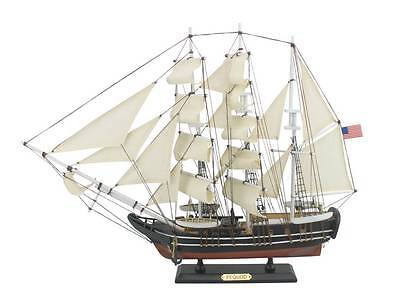 """Wooden Moby Dick - Pequod Model Whaling Boat 24"""""""