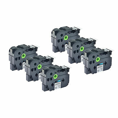 """6PK TZ TZe-151 Black on Clear Lable Tape 1"""" 8m For Brother P-touch 9800PCN 2300"""