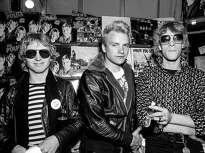 The Police Rock Music Band Retro Vintage BW Giant Wall Print POSTER