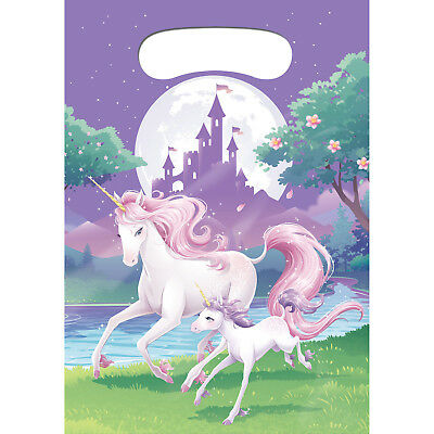 Unicorn Fantasy Birthday Party Supplies Lolly Loot Treat Favour Bags Pk8
