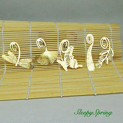 5Pcs 18k Gold Plated Bookmarks Note Pad Memo Stationery Novelty Gift