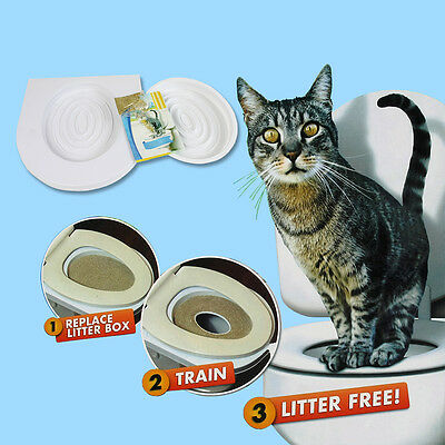Kitty Cat Toilet Training Kit Pee Potty Pet Litter Tray W/ Catnip FAST AU SHIP