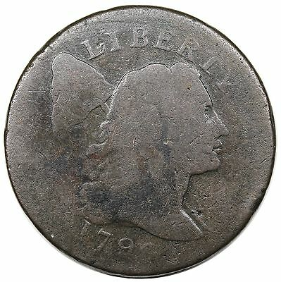 1796 Liberty Cap Large Cent, S-84, R.3, G detail