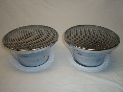 Chrome Velocity Stack air cleaner Filter breather Tunnel ram 2x4 dual quad rat