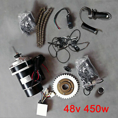 New 48V 450W Electric Tricycle Bicycle Ebike Refit Geared Brush Motor Parts Kit