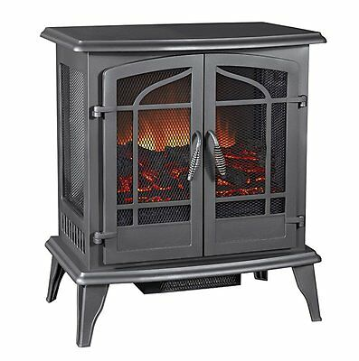 Pleasant Hearth Legacy Panoramic Electric Stove, Vintage Iron