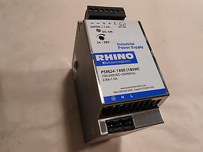 Automation Direct / Rhino PSM24-180S 24V DC 180W Power Supply