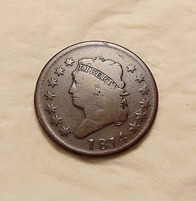 1814 Classic Head Large Cent - Better Date - Nice Looking Coin